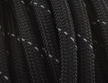 Паракорд Atwood Rope 550 RG1059 Black/Grey Reflective светоотражающий